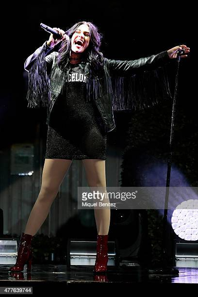 Jessie J performs on stage during the third 'Festival Jardins de Pedralbes' on June 18 2015 in Barcelona Spain