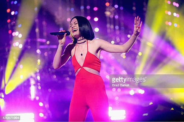 Jessie J performs onstage at the MTV 2015 Upfront presentation on April 21 2015 in New York City