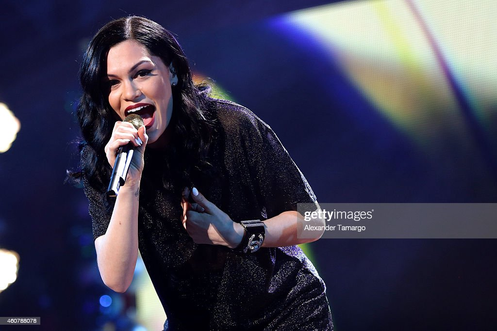 Jessie J performs onstage during 93.3 FLZ's Jingle Ball 2014 at Amalie Arena on December 22, 2014 in Tampa, Florida.