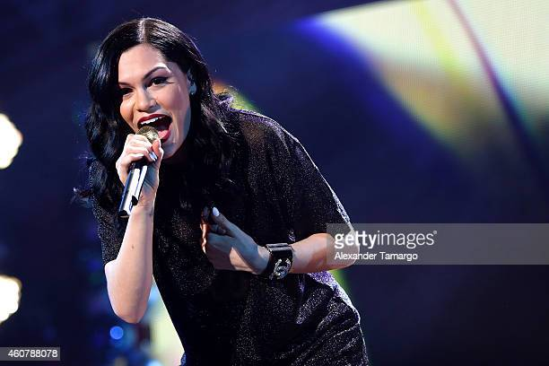 Jessie J performs onstage during 933 FLZ's Jingle Ball 2014 at Amalie Arena on December 22 2014 in Tampa Florida