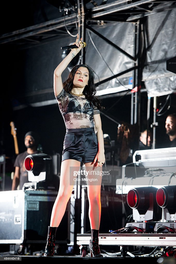 Jessie J performs onstage headlining at the end of the 2nd day of Fusion Festival 2014 on August 31, 2014 in Birmingham, England.