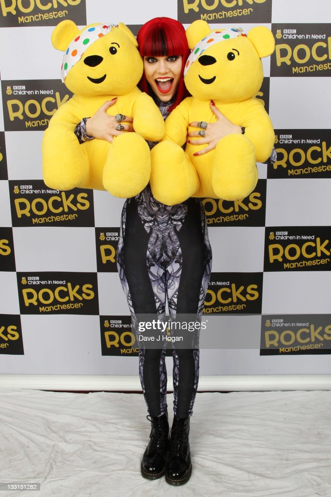 <a gi-track='captionPersonalityLinkClicked' href=/galleries/search?phrase=Jessie+J&family=editorial&specificpeople=5737661 ng-click='$event.stopPropagation()'>Jessie J</a> poses backstage at Children In Need Rocks Manchester 2011 at The Manchester Evening News Arena on November 17, 2011 in Manchester, United Kingdom.