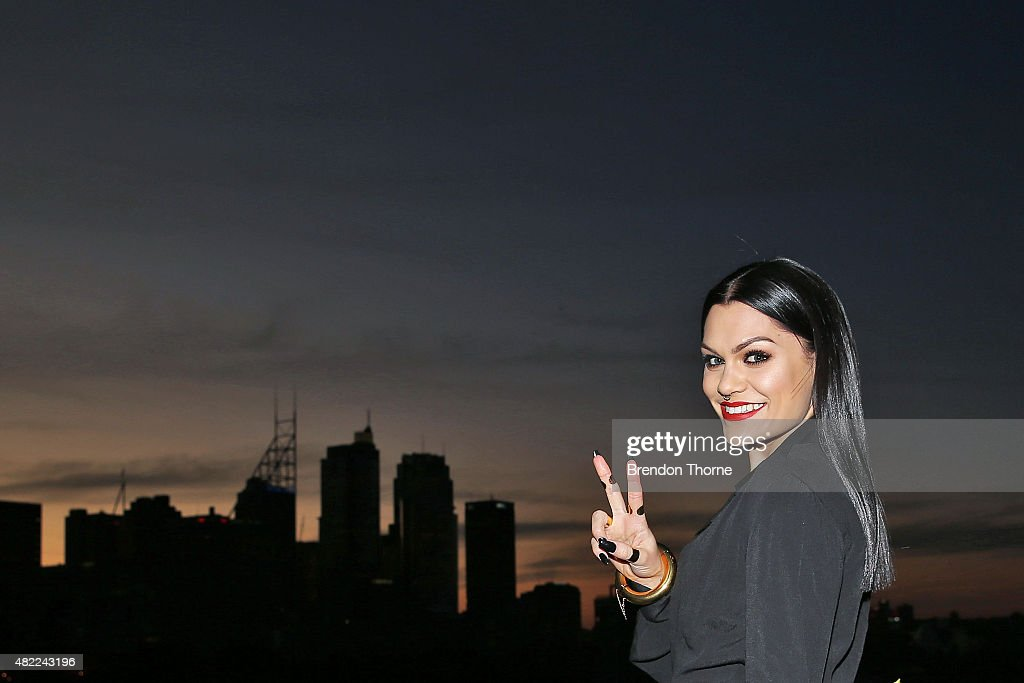 Jessie J poses during the Voice Live Finals Show Launch on July 29, 2015 in Sydney, Australia.