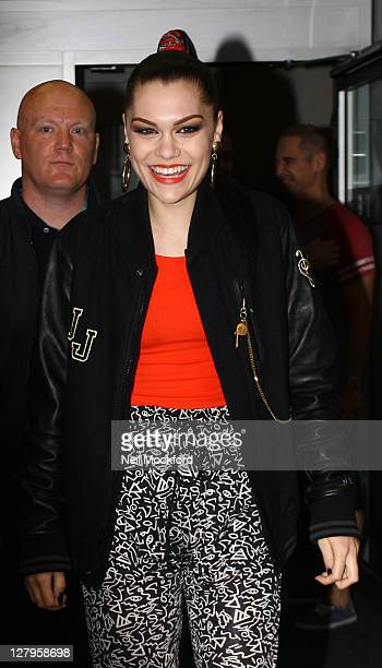Jessie J seen leaving BBC Radio One after announcing she will be a judge on upcoming BBC show 'The Voice' on October 4 2011 in London England