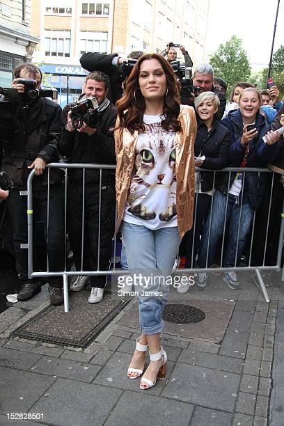 Jessie J sighting at BBC radio one on September 27 2012 in London England