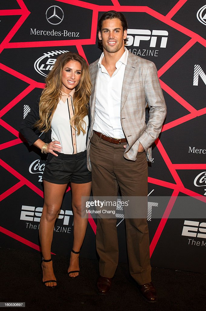 Jessie James and <a gi-track='captionPersonalityLinkClicked' href=/galleries/search?phrase=Eric+Decker&family=editorial&specificpeople=3950667 ng-click='$event.stopPropagation()'>Eric Decker</a> attends ESPN The Magazine's 'Next' Event at Tad Gormley Stadium on February 1, 2013 in New Orleans, Louisiana.