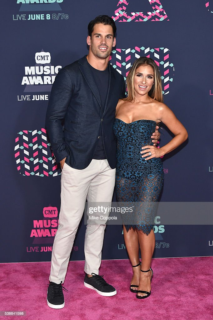 Jessie James and Eric Decker attends the 2016 CMT Music awards at the Bridgestone Arena on June 8 2016 in Nashville Tennessee