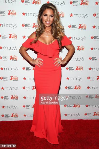 Jessie James Decker attends the American Heart Association's Go Red For Women Red Dress Collection 2017 presented by Macy's at Fashion Week in New...