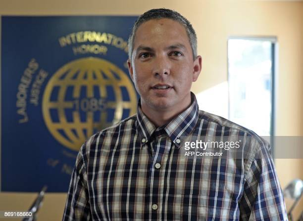 Jessie King business manager of the Laborers Local 1085 speaks to AFP in Parkersburg West Virginia on October 26 2017 US President Donald Trump may...