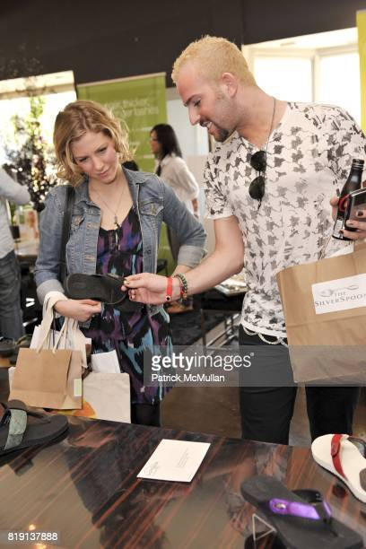 Jessie Kohen and Micah Jesse attend Silver Spoon Presents Oscar Weekend Red Cross Event For Haiti Relief at Interior Illusions on March 3 2010 in...