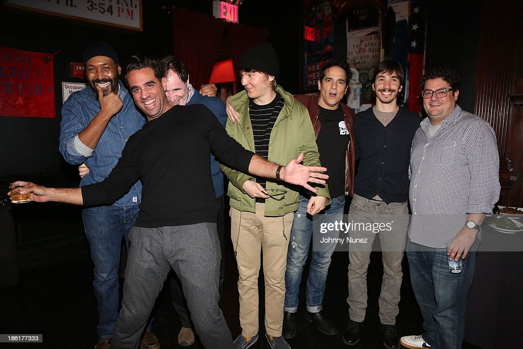 Jessie L. Martin, <a gi-track='captionPersonalityLinkClicked' href=/galleries/search?phrase=Bobby+Cannavale&family=editorial&specificpeople=211166 ng-click='$event.stopPropagation()'>Bobby Cannavale</a>, <a gi-track='captionPersonalityLinkClicked' href=/galleries/search?phrase=Richard+Kind&family=editorial&specificpeople=216578 ng-click='$event.stopPropagation()'>Richard Kind</a>, <a gi-track='captionPersonalityLinkClicked' href=/galleries/search?phrase=Paul+Dano&family=editorial&specificpeople=550442 ng-click='$event.stopPropagation()'>Paul Dano</a>, <a gi-track='captionPersonalityLinkClicked' href=/galleries/search?phrase=Yul+Vazquez&family=editorial&specificpeople=2491110 ng-click='$event.stopPropagation()'>Yul Vazquez</a>, <a gi-track='captionPersonalityLinkClicked' href=/galleries/search?phrase=Justin+Long&family=editorial&specificpeople=240305 ng-click='$event.stopPropagation()'>Justin Long</a>, <a gi-track='captionPersonalityLinkClicked' href=/galleries/search?phrase=Bobby+Moynihan&family=editorial&specificpeople=5633398 ng-click='$event.stopPropagation()'>Bobby Moynihan</a> attend the LAByrinth Theater Company Celebrity Charades 2013 benefit gala at Capitale on October 28, 2013 in New York City.