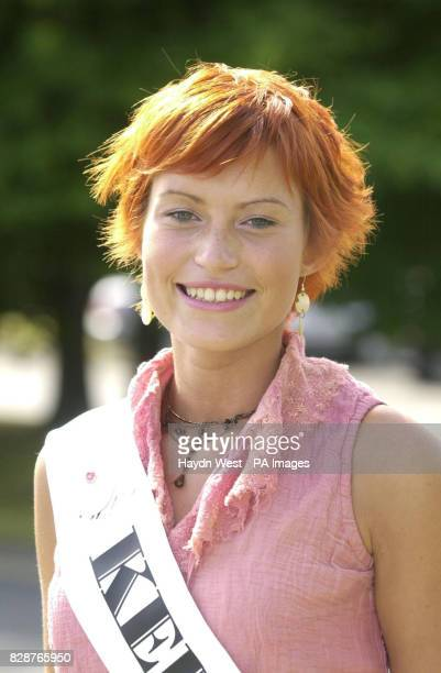 Jessie Lyons representing Kerry in the 2003 Rose of Tralee International Festival at a photocall in Dublin Ireland where the 26 Roses were introduced...