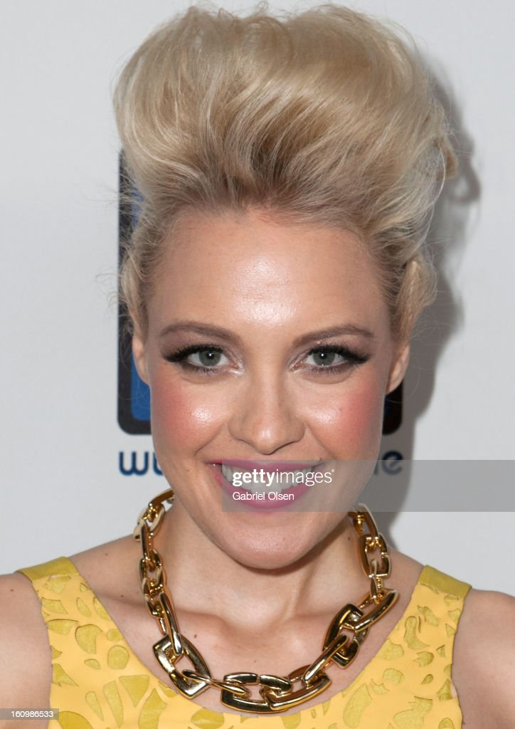 Jessie Malakouti arrives at the Forefront TV Launch Partyon February 7, 2013 in Los Angeles, California.