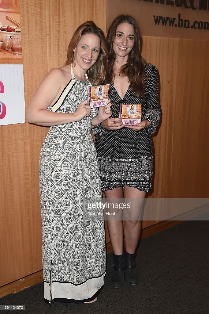 Jessie Mueller and Sara Bareilles from the cast of 'Waitress' performs songs from the Original Broadway Cast Recording at Barnes Noble 86th Lexington...