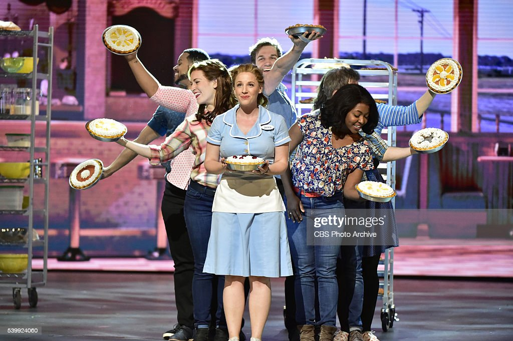 Jessie Mueller and the cast of Waitress at THE 70TH ANNUAL TONY AWARDS live from the Beacon Theatre in New York City Sunday June 12 on the CBS...