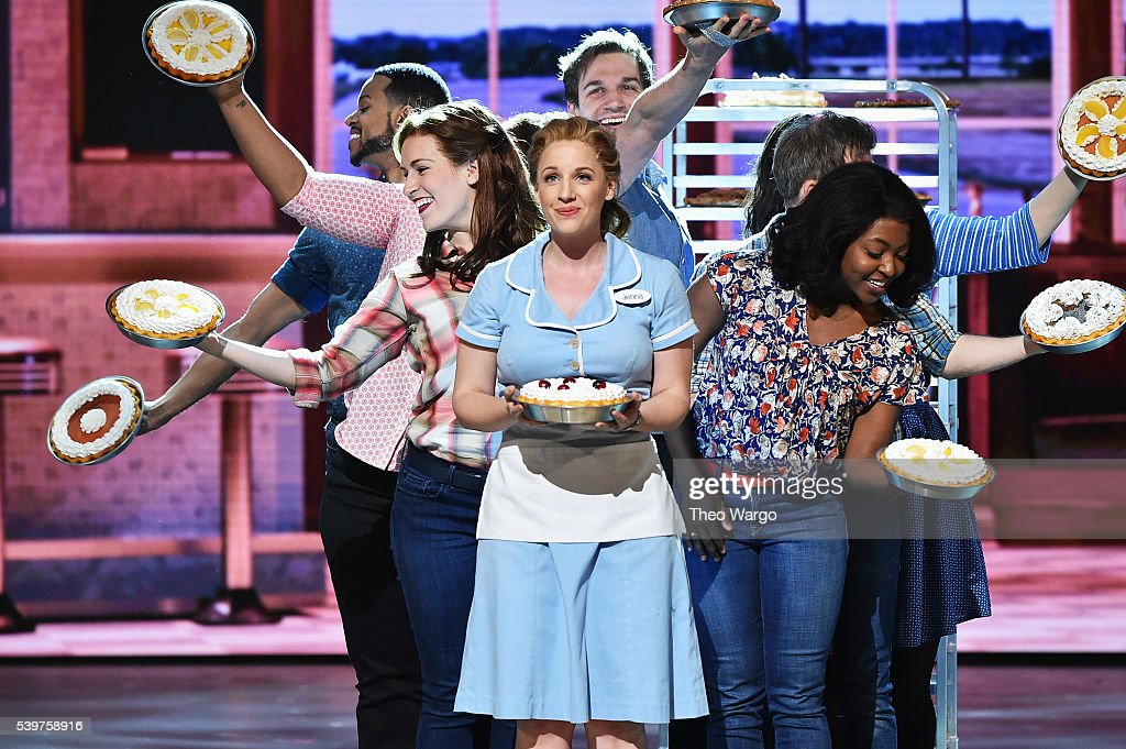 Jessie Mueller and the cast of 'Waitress' perform onstage during the 70th Annual Tony Awards at The Beacon Theatre on June 12 2016 in New York City