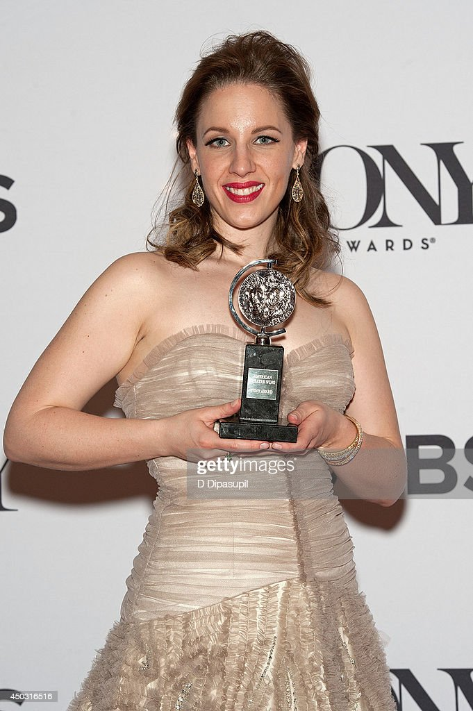Jessie Mueller poses in the press room during the American Theatre Wing's 68th Annual Tony Awards at Radio City Music Hall on June 8 2014 in New York...