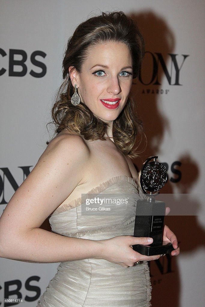 Jessie Mueller, winner of the award for Best Performance by an Actress in a Leading Role in a Musical for 'Beautiful', poses in the press room during the American Theatre Wing's 68th Annual Tony Awards at Radio City Music Hall on June 8, 2014 in New York City.