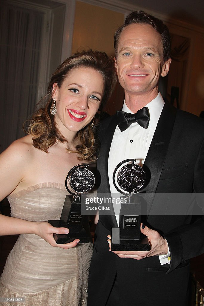 Jessie Mueller, winner of the award for Best Performance by an Actress in a Leading Role in a Musical for 'Beautiful', and Neil Patrick Harris, winner of Tony Award For Best Actor In A Musical for 'Hedwig And The Angry Inch' poses in the press room during the American Theatre Wing's 68th Annual Tony Awards at Radio City Music Hall on June 8, 2014 in New York City.