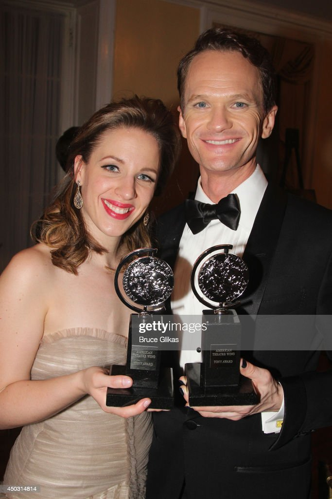 <a gi-track='captionPersonalityLinkClicked' href=/galleries/search?phrase=Jessie+Mueller&family=editorial&specificpeople=8736414 ng-click='$event.stopPropagation()'>Jessie Mueller</a>, winner of the award for Best Performance by an Actress in a Leading Role in a Musical for 'Beautiful', and <a gi-track='captionPersonalityLinkClicked' href=/galleries/search?phrase=Neil+Patrick+Harris&family=editorial&specificpeople=210509 ng-click='$event.stopPropagation()'>Neil Patrick Harris</a>, winner of Tony Award For Best Actor In A Musical for 'Hedwig And The Angry Inch' poses in the press room during the American Theatre Wing's 68th Annual Tony Awards at Radio City Music Hall on June 8, 2014 in New York City.
