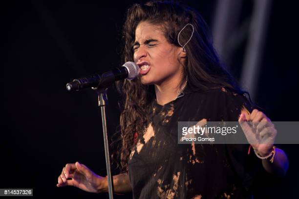 Jessie Reyez performs on EDP stage at day 2 of Super Bock Super Rock festival on July 14 2017 in Lisbon Portugal