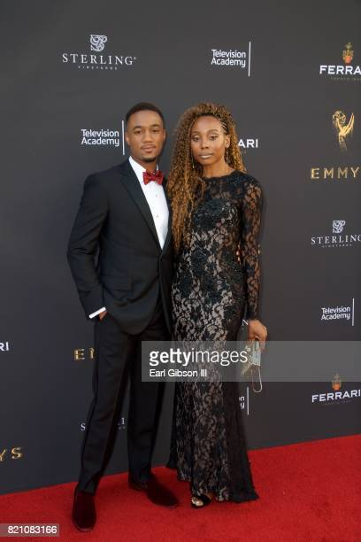 Jessie T Usher and Erica Ash attend the 69th Los Angeles Area Emmy Awards at Television Academy on July 22 2017 in Los Angeles California