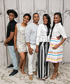 Jessie T Usher Erica Ash RonReaco Lee Tichina Arnold and Teyonah Parris visit AOL Build to discuss 'Survivor's Remorse' at AOL Studios In New York on...