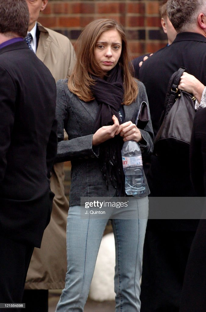 Jessie Vance during Memorial Service for Broadcaster Tommy Vance at Golders Green Crematorium in London Great Britain