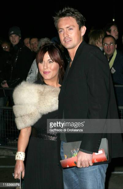 Jessie Wallace and Dave Morgan during Cirque du Soleil's 20th Anniversary of 'Dralion' at Royal Albert Hall in London Great Britain