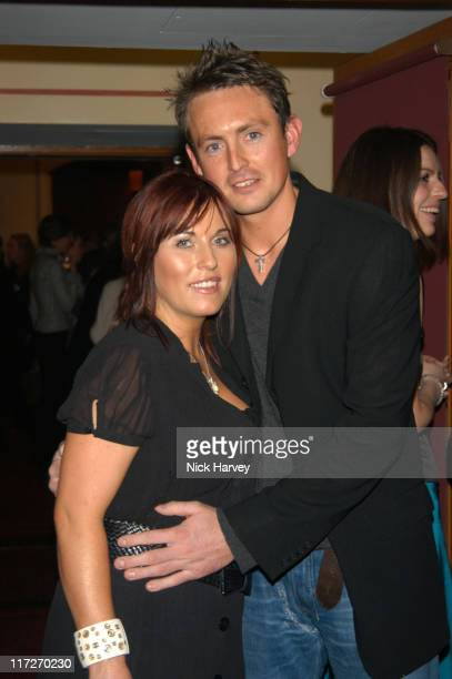 Jessie Wallace and Dave Morgan during Cirque du Soleil's 20th Anniversary of Dralion Arrivals at The Royal Albert Hall in London Great Britain