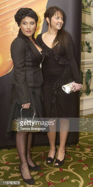 Jessie Wallace and Lacey Turner during Royal Television Society Programme Awards – Inside Arrivals at Grosvenor House Hotel in London Great Britain