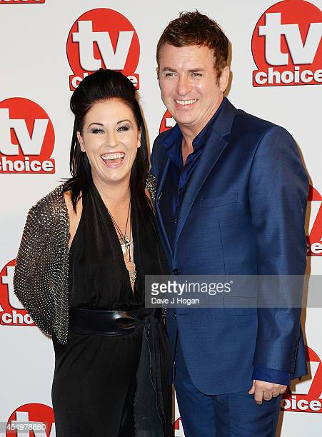 Jessie Wallace and Shane Ritchie attend the TV Choice Awards 2014 at London Hilton on September 8 2014 in London England