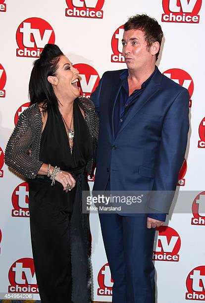 Jessie Wallace and Shane Ritchie attends the TV Choice Awards 2014 at London Hilton on September 8 2014 in London England