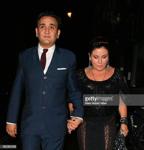 Jessie Wallace at the Groucho club on September 28 2013 in London England