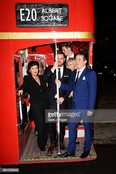 Jessie Wallace Danny Dyer and Shane Richie attend the National Television Awards 2014 on January 22 2014 in London England