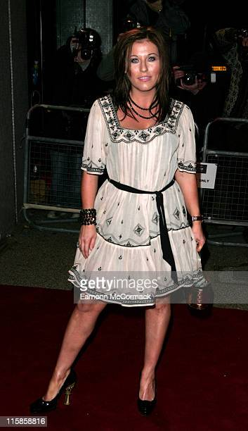 Jessie Wallace during An Audience with Take That Arrivals at The London Television Centre in London Great Britain
