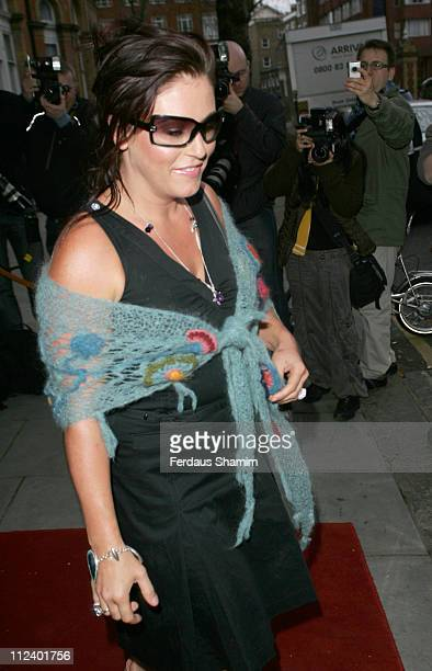 Jessie Wallace during British Academy Television Awards Nominees Party April 20 2006 at The Landmark Hotel in London Great Britain