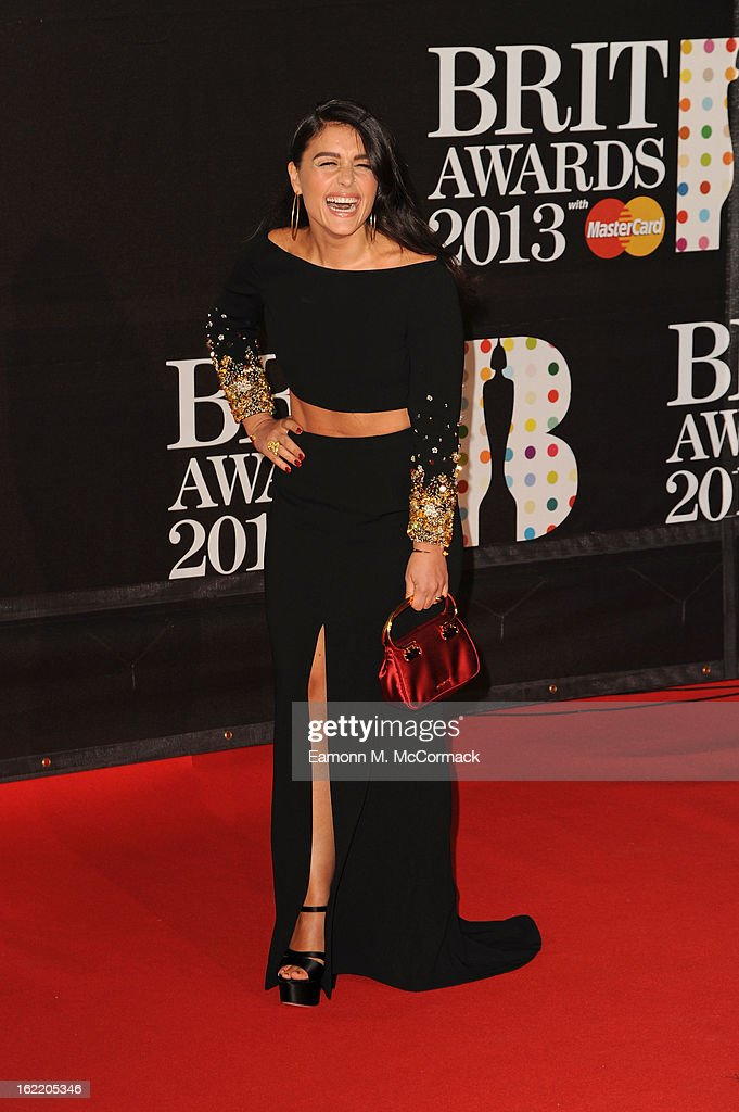 Jessie Ware attends the Brit Awards 2013 at the 02 Arena on February 20, 2013 in London, England.