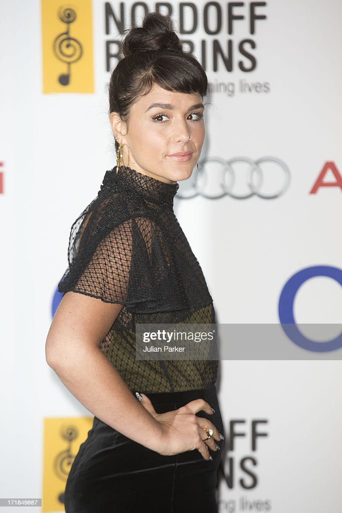 <a gi-track='captionPersonalityLinkClicked' href=/galleries/search?phrase=Jessie+Ware&family=editorial&specificpeople=8930844 ng-click='$event.stopPropagation()'>Jessie Ware</a> attends the Nordoff Robbins Silver Clef awards at London Hilton on June 28, 2013 in London, England.