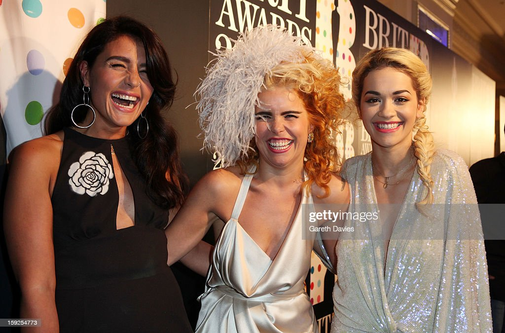 Jessie Ware, Paloma Faith and Rita Ora attend the BRIT Awards nominations announcement at The Savoy Hotel on January 10, 2013 in London, England.