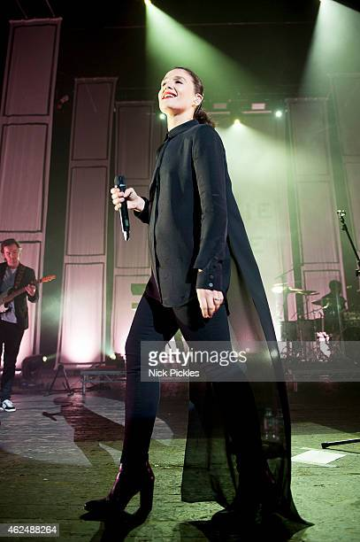 Jessie Ware performs at 02 Academy Brixton on January 29 2015 in London England