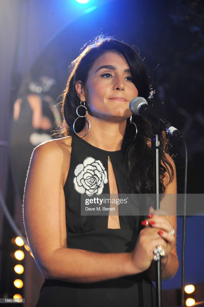 Jessie Ware performs at the BRIT Awards nominations announcement at The Savoy Hotel on January 10, 2013 in London, England.