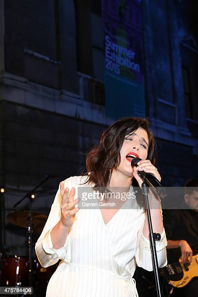 Jessie Ware performs at the Summer Exhibition Preview Party at Royal Academy of Arts on June 3 2015 in London England