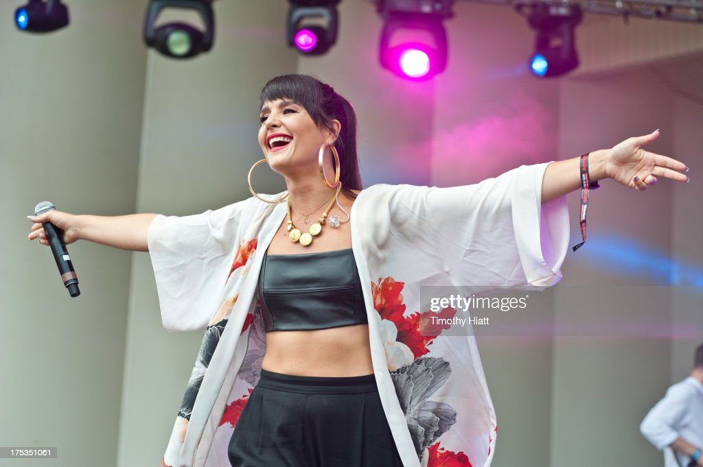 Jessie Ware performs during Lollapalooza 2013 at Grant Park on August 2, 2013 in Chicago, Illinois.