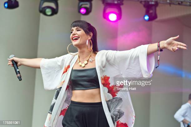 Jessie Ware performs during Lollapalooza 2013 at Grant Park on August 2 2013 in Chicago Illinois