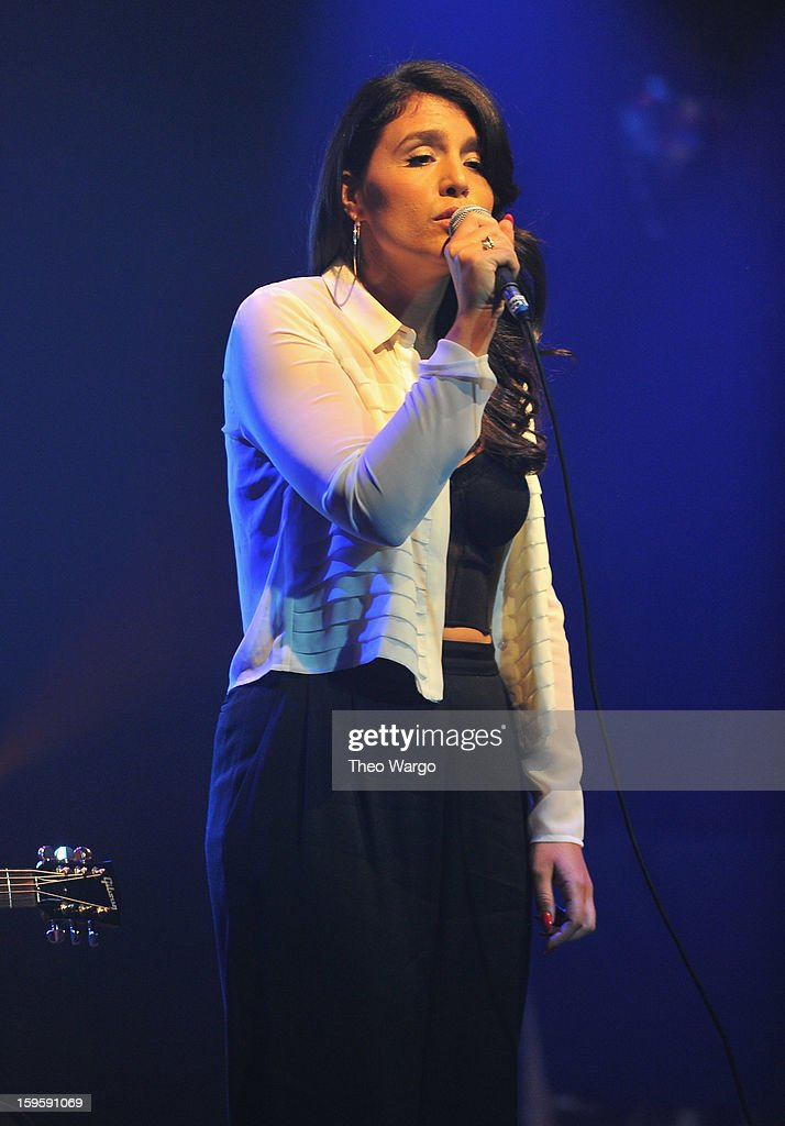 Jessie Ware performs during the 2013 MTV Artist To Watch Concert at Highline Ballroom on January 16, 2013 in New York City.
