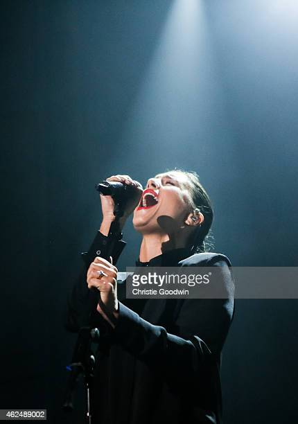 Jessie Ware performs on stage at Brixton Academy on January 29 2015 in London United Kingdom