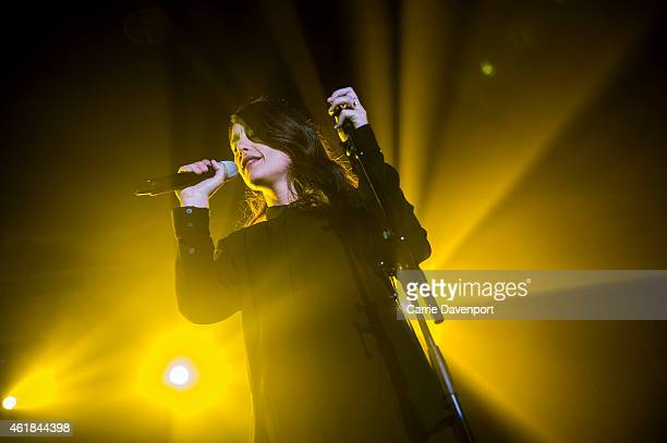 Jessie Ware performs on stage on the opening night of her UK tour at the at Mandela Hall on January 20 2015 in Belfast United Kingdom