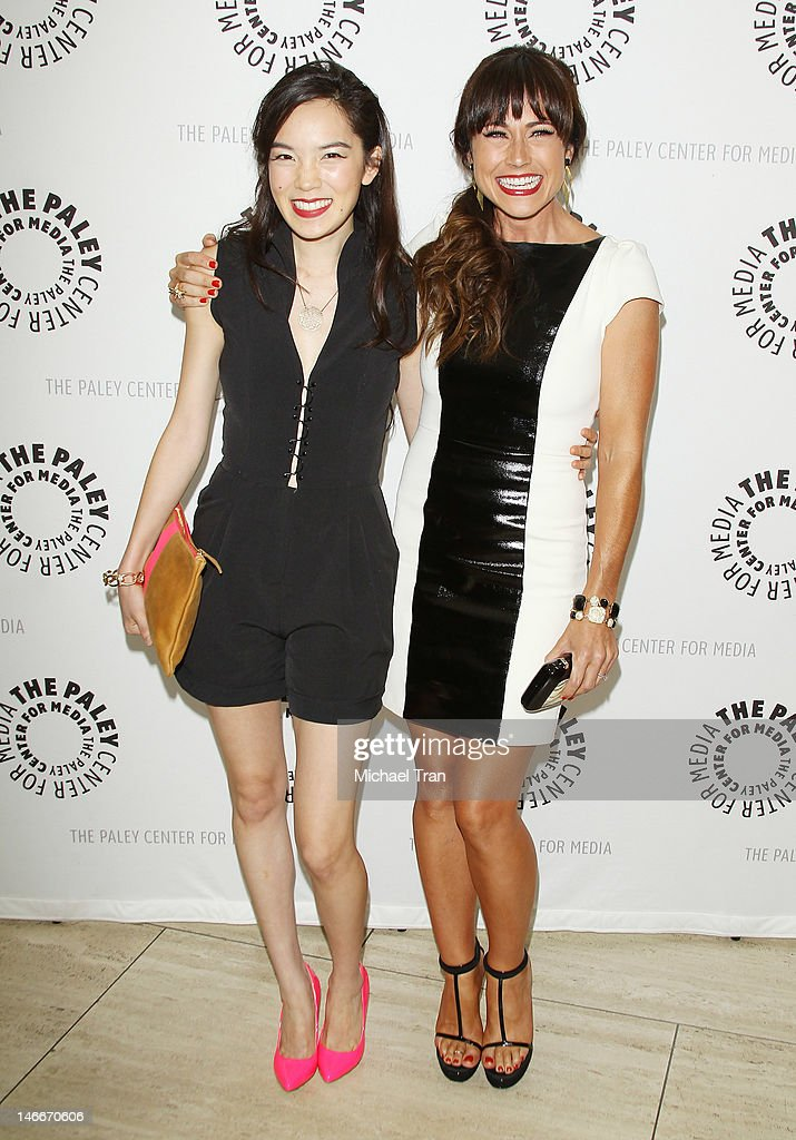 Jessika Van (L) and Nikki Deloach arrive at season 2 premiere screening of MTV's comedy series 'Awkward' held at The Paley Center for Media on June 21, 2012 in Beverly Hills, California.