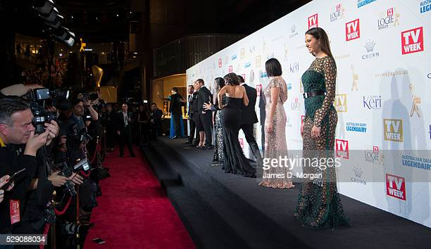 Jessinta Campbell arrives at the 58th Annual Logie Awards at Crown Palladium on May 8 2016 in Melbourne Australia